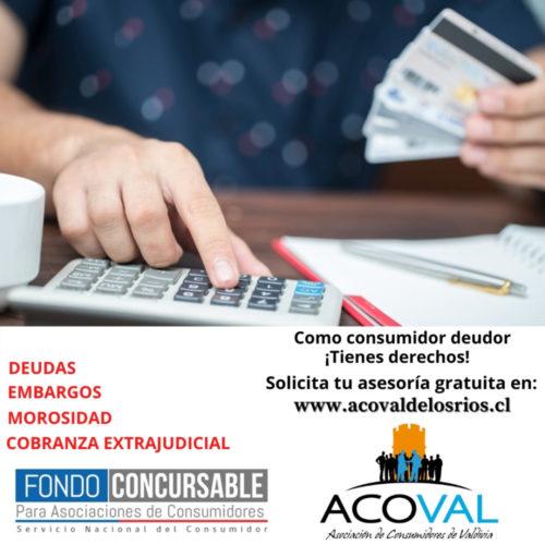 ACOVAL llama a deudores a solicitar orientación financiera e informarse sobre sus derechos