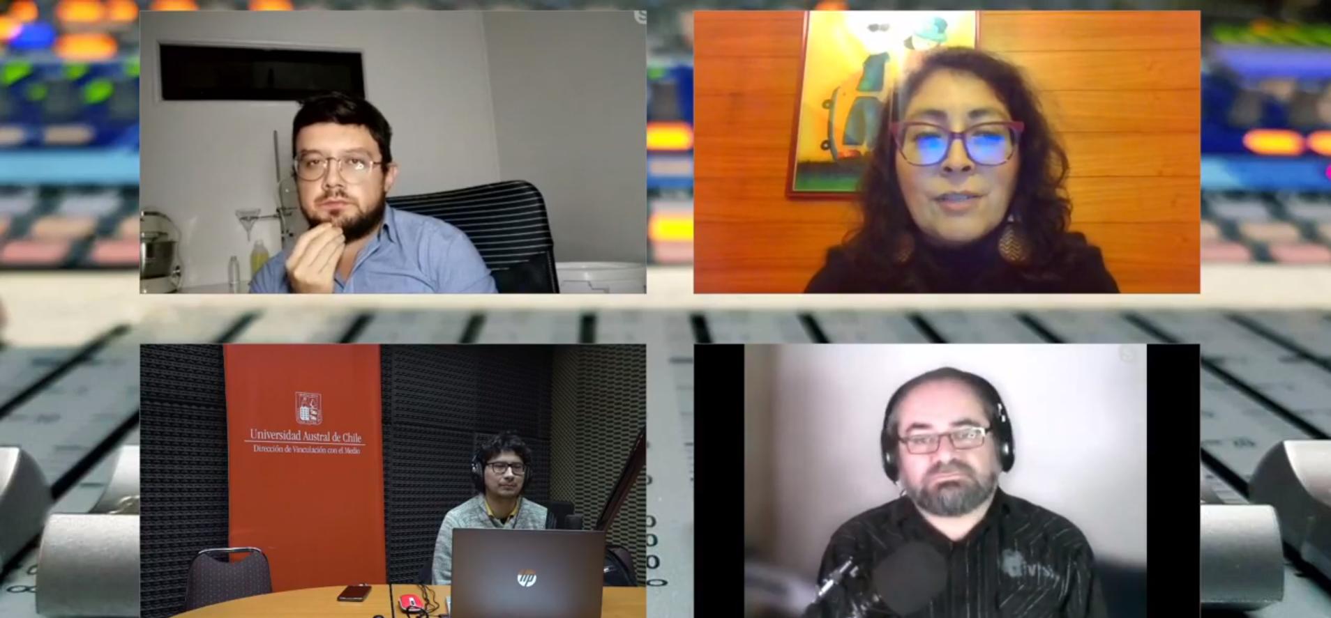 Captura de pantalla del programa donde están los invitados y panelistas